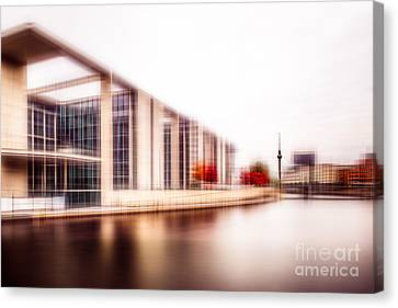 Fall In The City Canvas Print by Hannes Cmarits