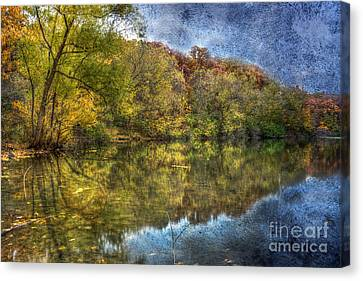 Fall Reflections Canvas Print by Scott Wood
