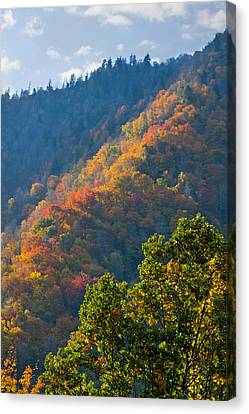 Fall Smoky Mountains Canvas Print by Melinda Fawver
