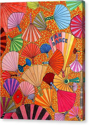 Fan Dance Canvas Print