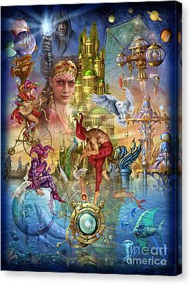 Celestial Canvas Print - Fantasy Island by Ciro Marchetti