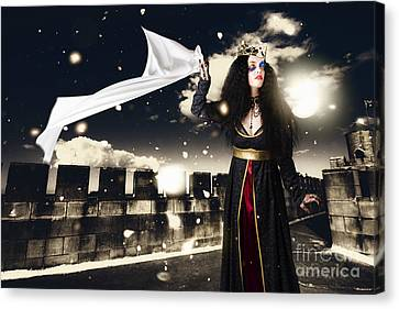 Sombre Canvas Print - Fantasy Princess Awaiting Prince Charming Rescue by Jorgo Photography - Wall Art Gallery
