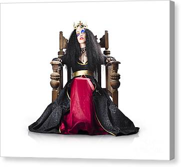 Sombre Canvas Print - Fantasy Queen On Throne by Jorgo Photography - Wall Art Gallery