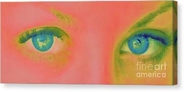 Canvas Print featuring the painting Far Away Eyes by Janice Westerberg