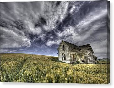 Farmhouse Canvas Print by Latah Trail Foundation