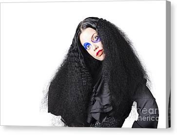 Wavy Canvas Print - Fashion Model In Black by Jorgo Photography - Wall Art Gallery