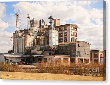 Feed Mill Canvas Print by Charles Beeler