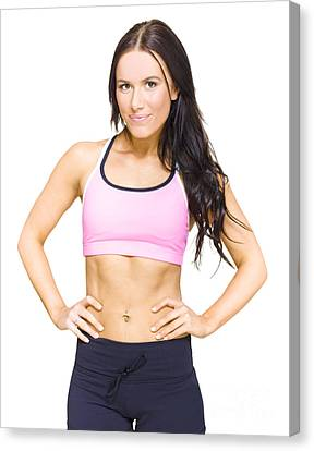Fitness Instructor Canvas Print - Female Gym Personal Fitness Trainer Or Instructor by Jorgo Photography - Wall Art Gallery