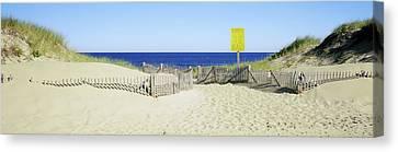 Fence On The Beach, Cape Cod Canvas Print