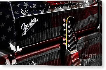 Fender Guitar And Amp Canvas Print