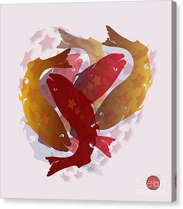 Shower Head Canvas Print - Feng Shui M 3 by Johannes Murat