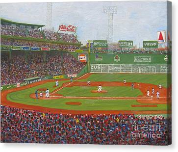 New York Baseball Parks Canvas Print - Fenway Park by Claire Norris