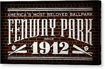 Fenway Park Canvas Print by Stephen Stookey
