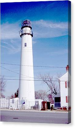 Fenwick Island Light Canvas Print by Herbert Gatewood