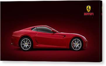 Red Ferrari Canvas Print - Ferrari 599 Gtb by Douglas Pittman