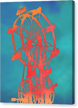 Ferris Wheel Pop Art Canvas Print by Dan Sproul