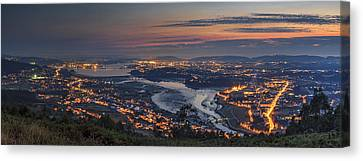 Ferrol's Ria Panorama From Mount Ancos Galicia Spain Canvas Print