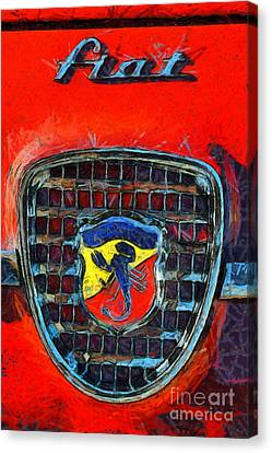 Show Canvas Print - 1961 Fiat Abarth 750gt Allemano Spider by George Atsametakis