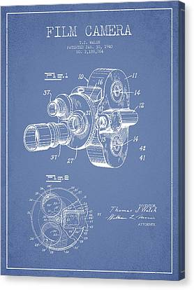 Film Camera Patent Drawing From 1938 Canvas Print