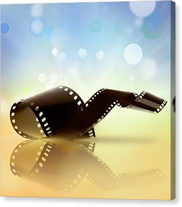 Filmstrip  Canvas Print by Les Cunliffe