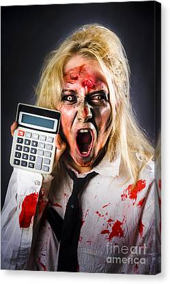 Finance Tax Accountant. Return From The Dead Canvas Print by Jorgo Photography - Wall Art Gallery