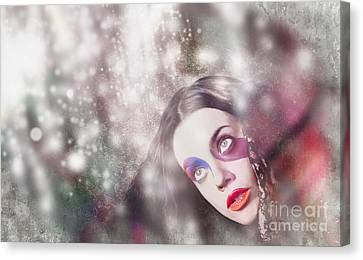 Fine Art Woman In Light Of Spiritual Awakening Canvas Print by Jorgo Photography - Wall Art Gallery
