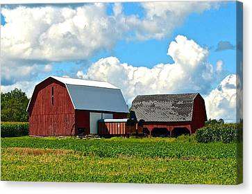 Finger Lakes Farm Canvas Print by Frozen in Time Fine Art Photography