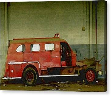 Fire Alarm Canvas Print by Dennis Buckman