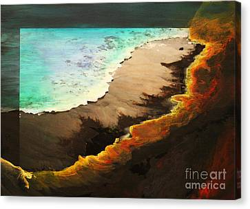 Canvas Print featuring the mixed media Fire And Water by Jeanette French
