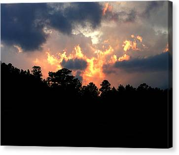 Canvas Print featuring the photograph Fire In The Sky by Craig T Burgwardt