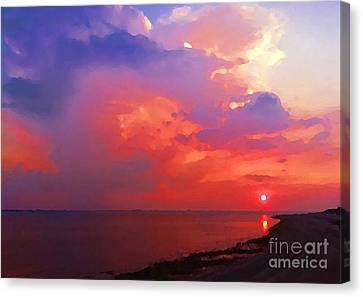 Fire In The Sky Canvas Print by Holly Martinson