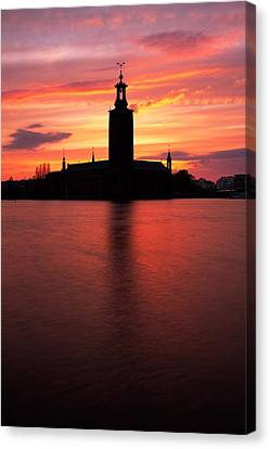 Fire In The Sky Canvas Print by Viacheslav Savitskiy