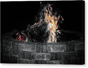 Fire Pit Canvas Print