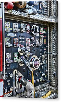 Fireman Control Panel Canvas Print by Paul Ward