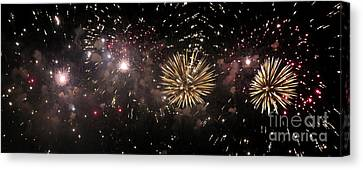 Fireworks 14 Canvas Print by France Laliberte