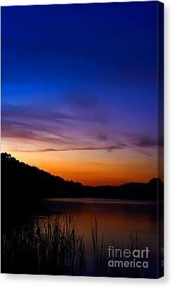 First Light Big Ditch Lake Canvas Print by Thomas R Fletcher