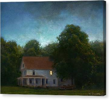 Canvas Print featuring the painting First Light by Wayne Daniels