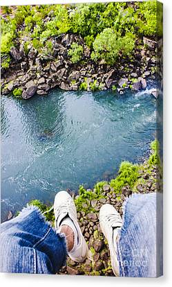 First Person View Riding The Tasmanian Chairlift Canvas Print