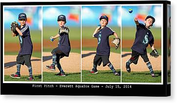 First Pitch Canvas Print