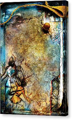 Crucify Digital Art Canvas Print - First Samuel 1 by Switchvues Design