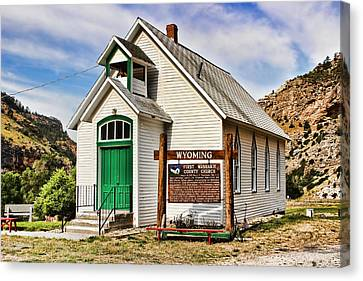 First Washakie County Church Canvas Print by Cathy Anderson