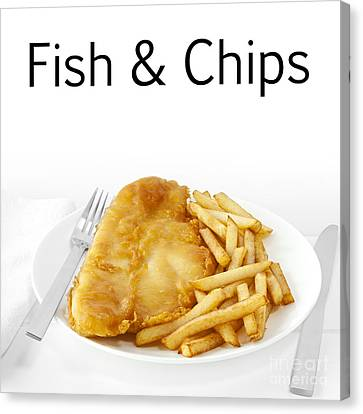 Fish And Chips Canvas Print by Colin and Linda McKie