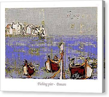 Fishing Pier Canvas Print by Pemaro