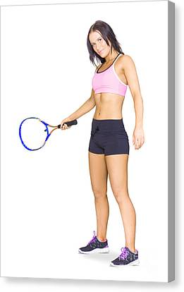 Fitness Instructor Canvas Print - Fit Active Female Sports Person Playing Tennis by Jorgo Photography - Wall Art Gallery