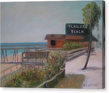 Flagler Beach Canvas Print