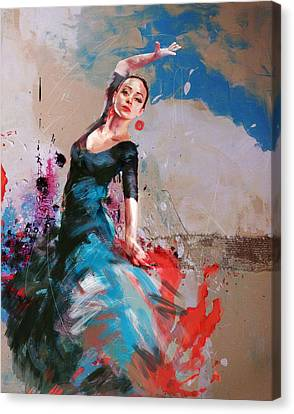 Ballerinas Canvas Print - Flamenco 41 by Maryam Mughal