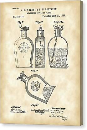 Flask Patent 1888 - Vintage Canvas Print