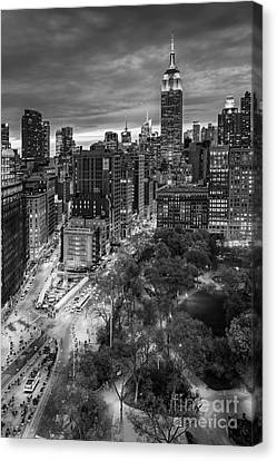 Flatiron District Birds Eye View Canvas Print by Susan Candelario