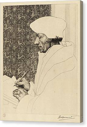 Félix Bracquemond French, 1833 - 1914 After Hans Holbein Canvas Print by Litz Collection