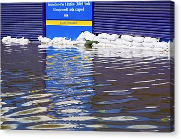 Toll House Canvas Print - Flooding by Ashley Cooper